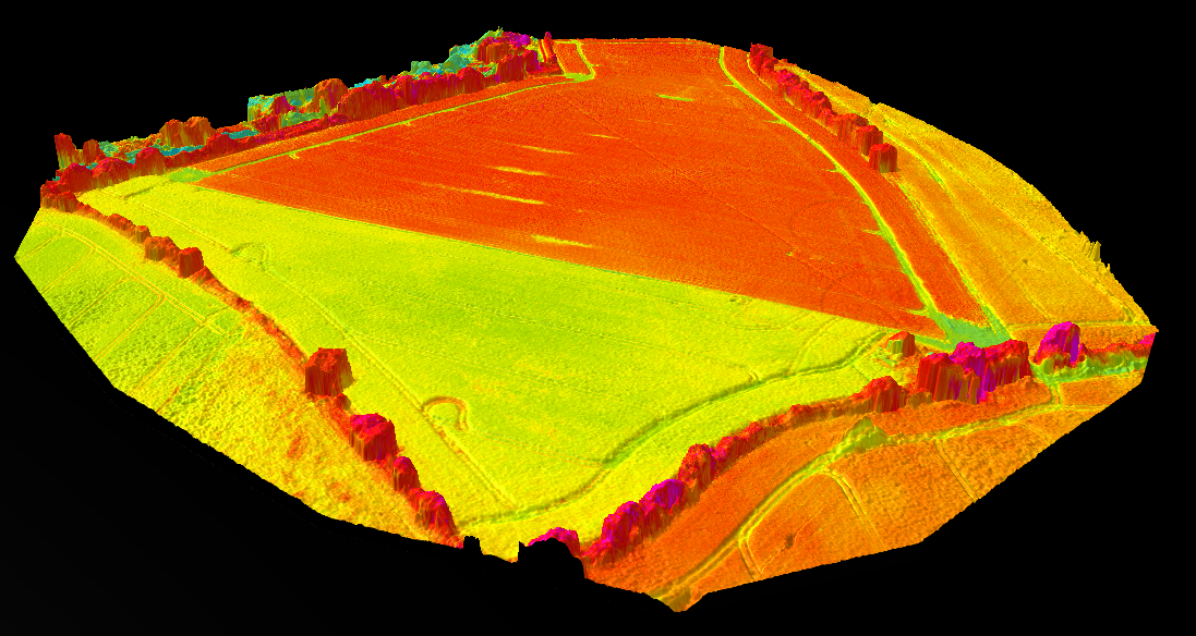 NDVI map from a 3D WebGL model. Data courtosy of [G2Way](http://www.g2way.com/)